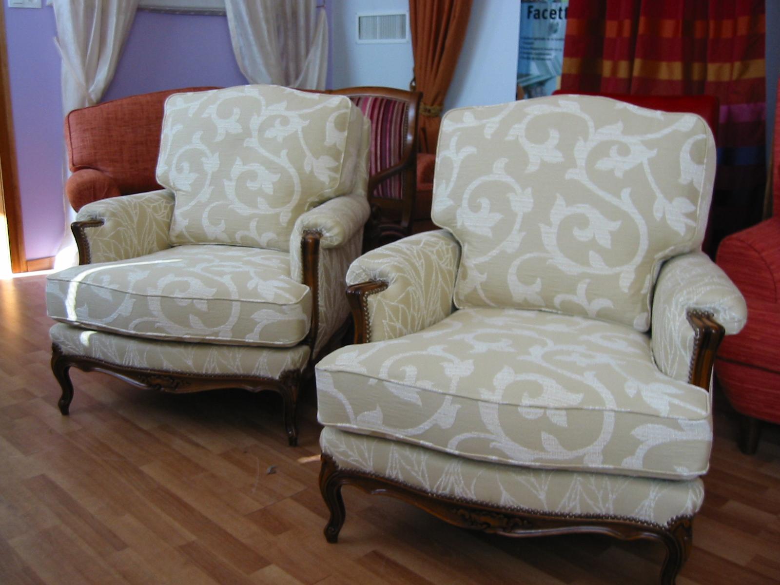 Restauration de sièges, fauteuils et canapés